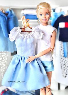 Barbie Dolls Diy, Barbie Fashionista Dolls, Barbie Model, Barbie Dress, Ropa American Girl, Barbie Stories, Sewing Barbie Clothes, Custom Barbie, Barbie Family