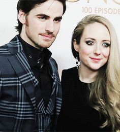 """Actor Colin and Helen O'Donoghue the 100th episode celebration of """"Once Upon A Time"""" at Storybrooke Cannery on February 20, 2016 in Vancouver, Canada."""