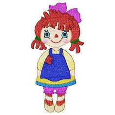 Free Embroidery Design: Rag Doll