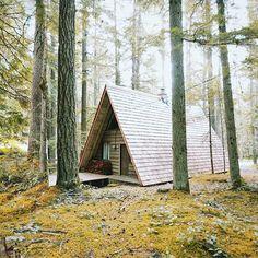 Lovely! A frame cabin #cabin