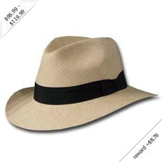 New FEDORA SAFARI Panama Hat NATURAL STRAW Size Moda Hombre b17ab6298df