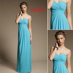 bd0002 azul cielo cariño de gasa hecho a medida para los patrones de vestidos de las damas de honor - spanish.alibaba.com