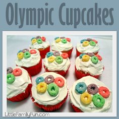 Little Family Fun: Family Olympics: Cupcakes
