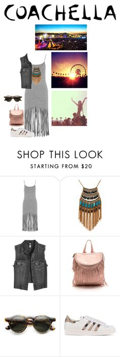 """""""Ready. Set. Coachella."""" by cheetakat12 on Polyvore featuring Topshop, Leslie Danzis, adidas Originals and packforcoachella"""
