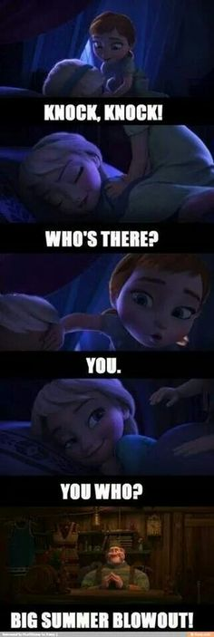 Not a big fan of frozen but have to say that is hilarious