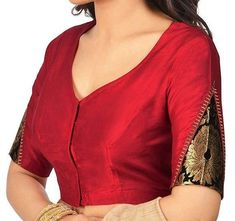 Designer Red Cotton Silk Blouse New Indian Designer Readymade Blouse For Women W. Designer Red Cotton Silk Blouse New Indian Designer Readymade Blouse For Women Wedding,Party Wear S Saree Blouse Neck Designs, Simple Blouse Designs, Stylish Blouse Design, Latest Blouse Designs, Indian Blouse Designs, Blouse Patterns, Sari Bluse, Mode Hippie, Sari Design