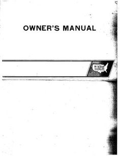 2e7603b8bb402f853cc2184be693440f complete 1970s holiday rambler owner's manual travel trailers