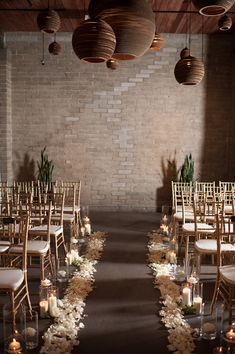 wedding ceremony, photo by Blue Rose Photography http://ruffledblog.com/seattle-new-years-eve-wedding #venue #decor