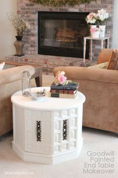 I think I have a table like this.goodwill chalk paint end table makeover. Refurbished End Tables, Redo End Tables, Painted End Tables, Refurbished Furniture, Repurposed Furniture, Furniture Makeover, Painted Furniture, Dresser Makeovers, Wood Furniture Store