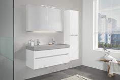 Badkamer Sanitair Karwei : Karwei deze grijze badkamermeubels geven de badkamer een strakke