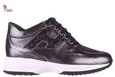 Hogan chaussures baskets sneakers femme en cuir interactive h spezzata glitter noir EU 39 HXW00N0S361BYSB999 - Chaussures hogan (*Partner-Link)