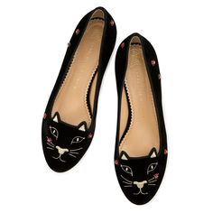 LUCKY KITTY FLATS|SLIPPER|Charlotte Olympia SHOES