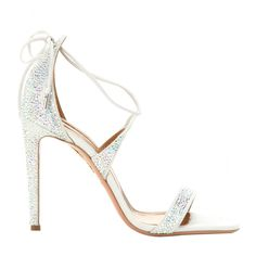 Aquazzura | Linda Embellished Sandals | WedLuxe Magazine | #wedding #luxury #weddinginspiration #bridalshoes #style #fashion