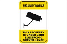 Security Sticker CCTV Sign All Sizes /& Materials Camera Warning MISC2