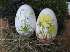 Ostereier - 2 Gänseeier handbemalt - ein Designerstück von machlach bei DaWanda