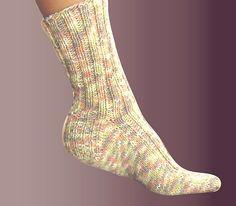 Free Knitting Pattern: Ashley Ribbed Socks