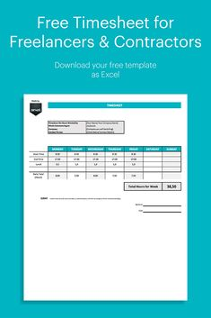 A free timesheet for logging the hours you work. Perfect for freelancers, contractors and any micro businesses. Make sure you get paid for the work you do! Invoice Template, Templates, Timesheet Template, You Working, Software, Business, Free, Stencils, Vorlage