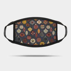 Masks by Sandra Hutter Designs   TeePublic Vintage Christmas Ornaments, Face Masks, Louis Vuitton Damier, Sunglasses Case, Pattern, Bags, Design, Handbags, Patterns