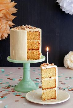 This Toffee Dream Cake is perfect for parties!