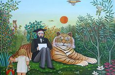 Henri Rousseau - example of Surrealism Art And Illustration, Art Populaire, Post Impressionism, Naive Art, Outsider Art, Art Design, Surreal Art, Art Plastique, Contemporary Paintings