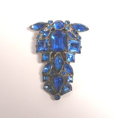 Fabulous Vintage Art Deco 2 1/2 inch Sapphire Blue by artfuloldies, $55.00
