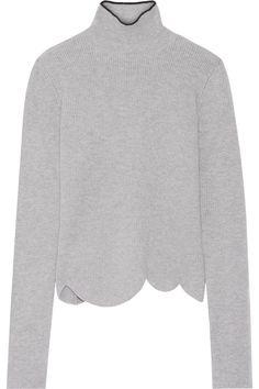 Marni | Pull à col cheminée en laine mélangée côtelée | NET-A-PORTER.COM