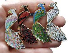 Peacock Enamel Pin