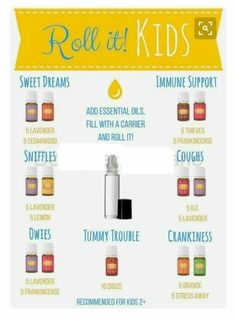 PLEASE READ ALL INFORMATION BELOW :) This kids roller recipe card with Young Living essential oils is a wonderful resource for essential oil users! Details: • Offers oil roller combinations specifically for kids, for many common health and wellness need Essential Oils For Cough, Essential Oil Uses, Young Living Essential Oils Recipes Cold, Essential Oil Blends For Colds, Oil For Cough, Roller Bottle Recipes, Young Living Oils, Young Living Baby, Young Living Cough