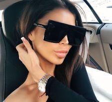4ac2f9d62f BETTY Flat Top Huge Big Oversized XXL SHIELD Square Women Sunglasses