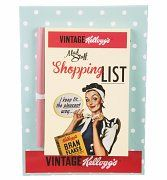 Vintage 50's Kellogg's Magnetic Shopping List With Pencil