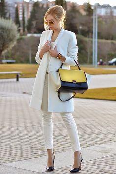 Casaco branco: Tendência de inverno