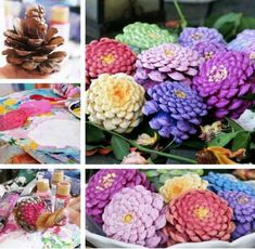 Pine Cone Flowers Craft