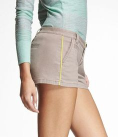 """2"""" NEON PIPED TROUSER SHORTS at Express...these are cute!!"""