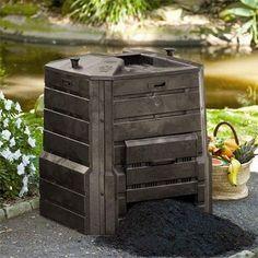 home garden composter 86 gal compost bin locking lid