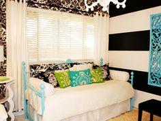 teen bedrooms, daybed, color, teen rooms, girl bedrooms