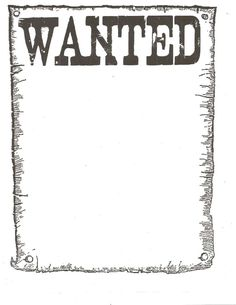 Wanted Poster Template 2.