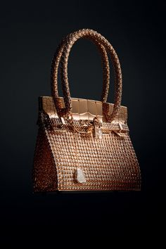 Hermès Haute Bijouterie Collection by Pierre Hardy - Birkin  Sac bijou in  rose and white gold with diamonds (total carat weight  Although Beautiful,  ... 8cdc005f145
