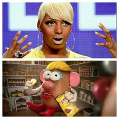 I FINALLY figured out who Mrs Potato Head reminds me of!