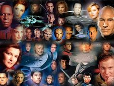 "Star Trek Captains & casts: The Original Series; The Next Generation; Deep Space Nine; Voyager. ""Star Trek-Enterprise"" would come later, altho its story was set many years prior to that of the original ""Star Trek"" series. Cool"