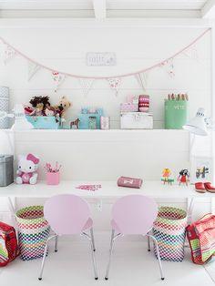20 Fantastic Kids Playroom Design Ideas – My Life Spot Kids Desk Space, Kid Desk, Homework Desk, Kids Workspace, Homework Station, Kids Corner, Craft Corner, Girls Bedroom, Lego Bedroom