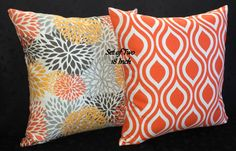 Decorative Accent Throw Pillow Covers   Orange and by berly731, $34.00