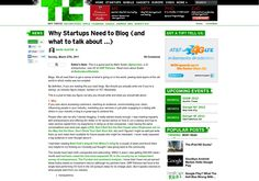 http://techcrunch.com/2011/03/27/why-startups-need-to-blog-and-what-to-talk-about via @url2pin