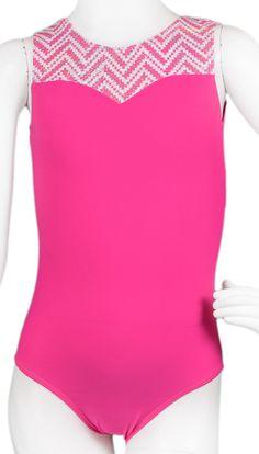 Destira: Sweetheart Pink Chevron Leotard #leotards #gymnastics #leotard #gymnast