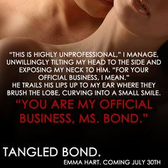 RED MOON...:  #Teaser - TANGLED BOND ( HOLLY WOOD FILES SERIES 2 ) BY EMMA HART