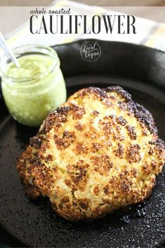 Whole Roasted Cauliflower - Healthy #Vegan Dinner / Lunch Recipes - #plantbased #cleaneating