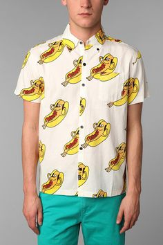 Lazy Oaf Hot Dawg Shirt #urbanoutfitters