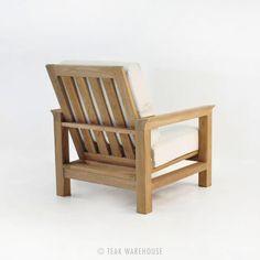 """$1,095 W32"""" x D38"""" x H35"""" Monterey Teak Outdoor Club Chair"""