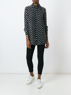 McQ Alexander McQueen polka dot pleated shirt