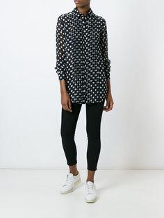 McQ Alexander McQueen polka dot pleated shirt