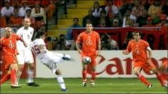 Czech Rep 3 Holland 2 in 2004 in Aveiro. Milan Baros scored a fine equaliser after 71 minutes to make it 2-2 in Group D at Euro 2004.